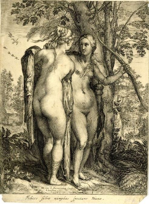Hendrick Goltzius Nymphs of Diana