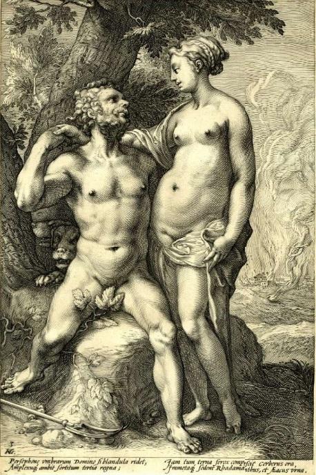 Hendrick Goltzius Pluto and Proserpine