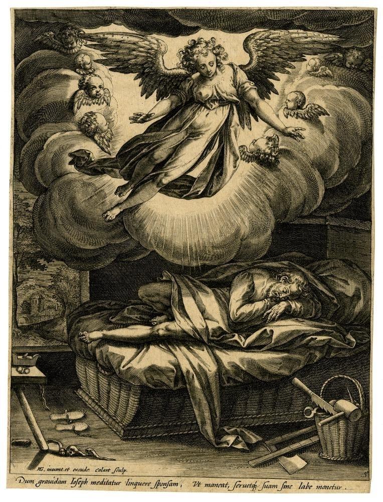 Hendrick Goltzius The annunciation to Joseph
