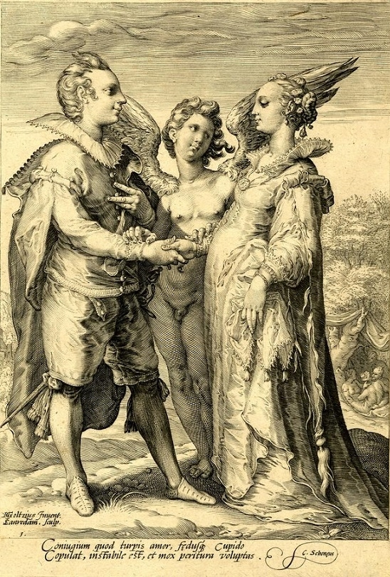 Hendrick Goltzius Three Kinds of Marriages