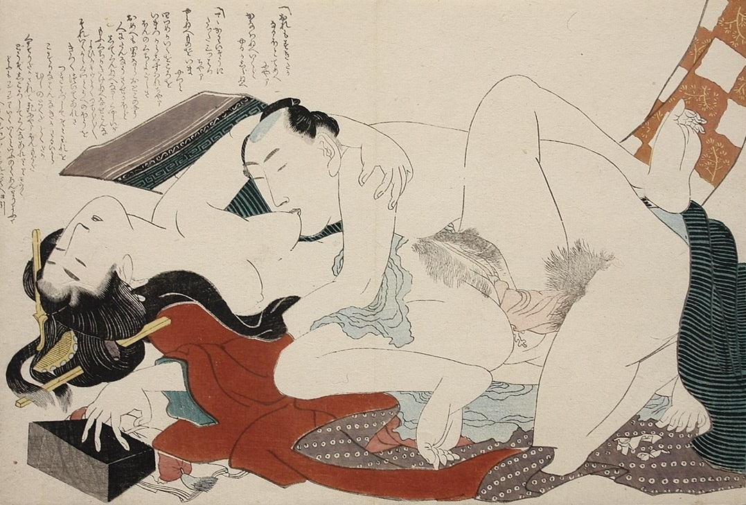 Hokusai nipple sucking