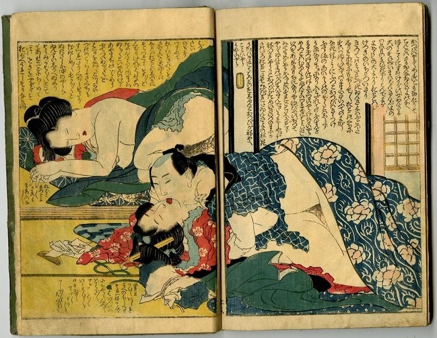 Hokusai shunga art