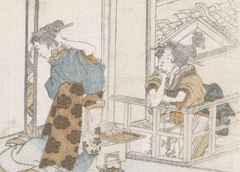 hokusai surimono print