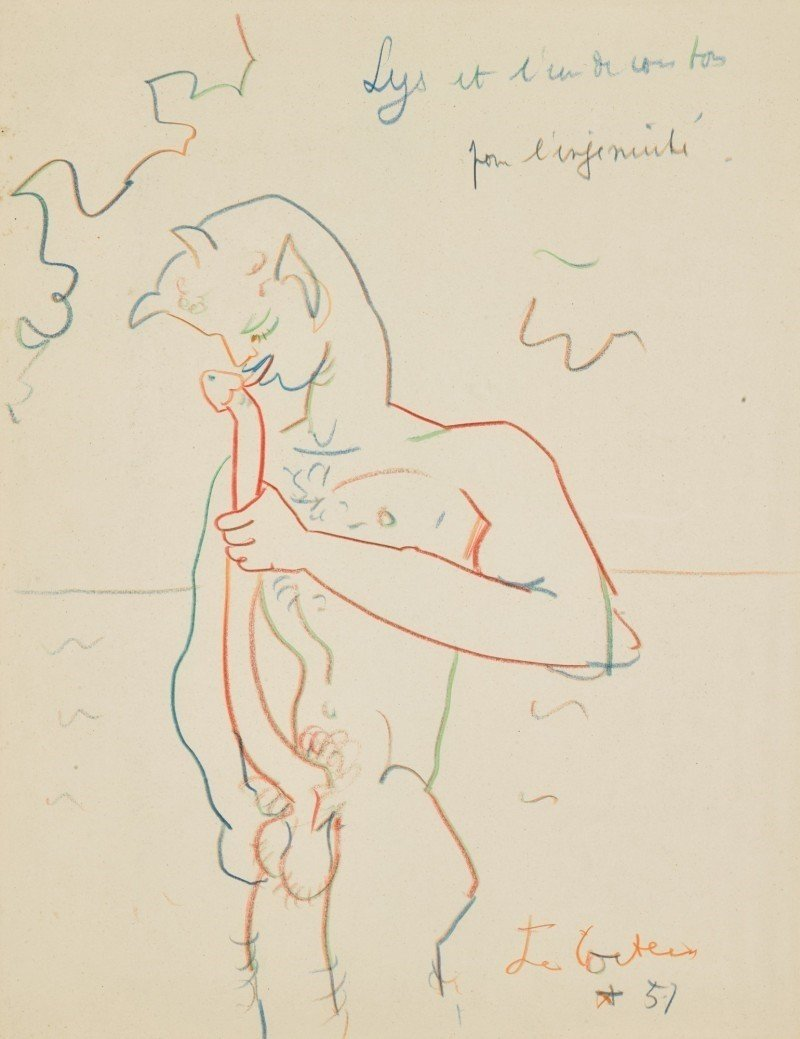 homoeroticism jean cocteau self fellatio faun