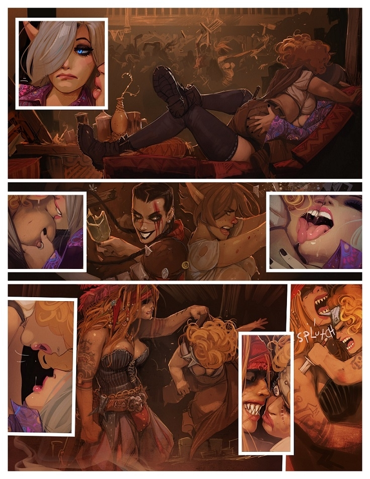 I roved out erotic comic art
