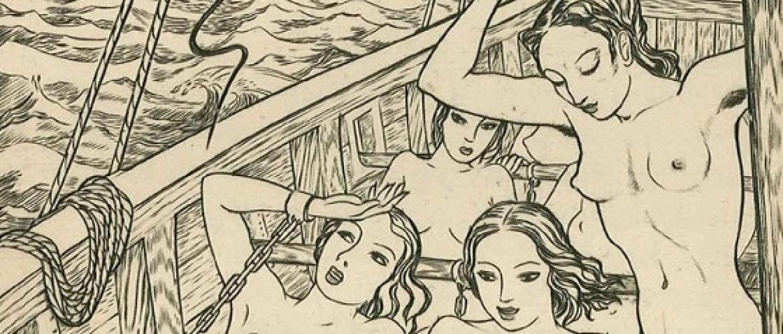 The British Engraver John Buckland Wright and His Sensual Females a la Paul Delvaux