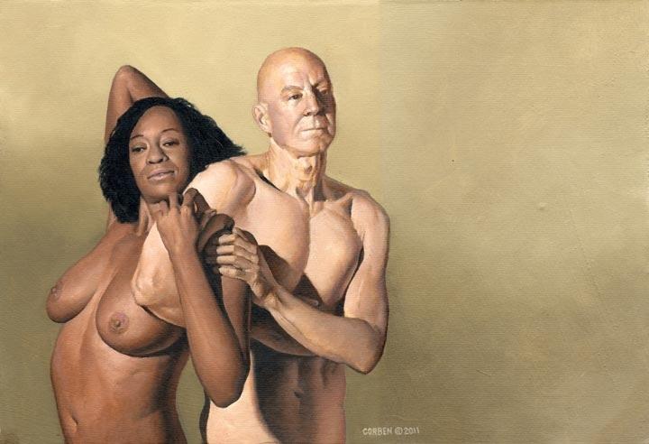 interracial nude couple