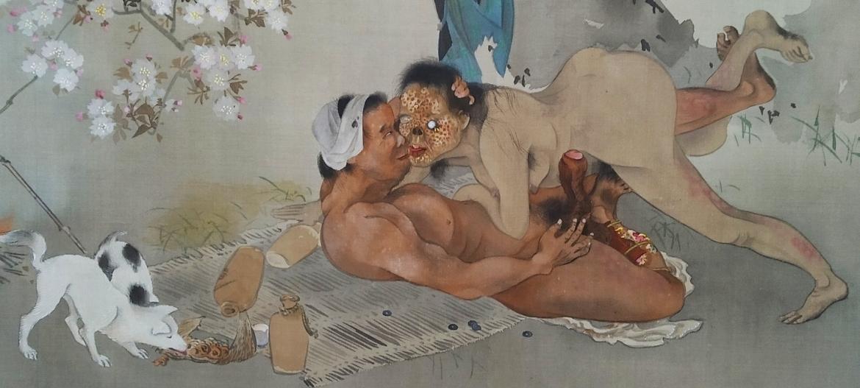 intimate yokai with man