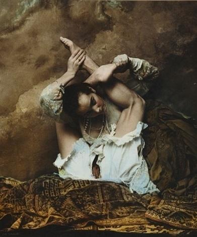 Jan Saudek acrobatic female