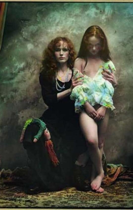 Jan Saudek mother and child