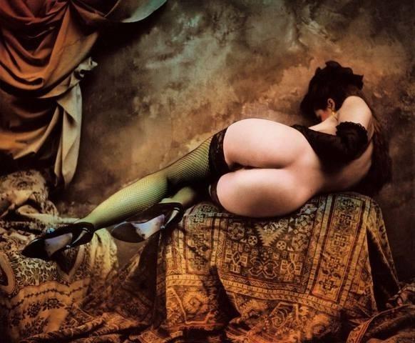 Jan Saudek nude female from the back