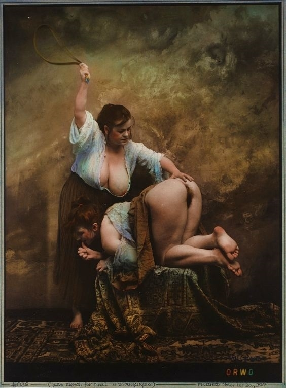 Jan Saudek spanking female