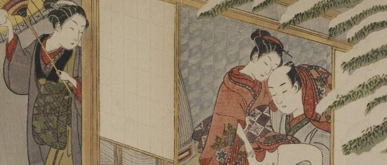 Harunobu's Jealous Geisha with Snowball