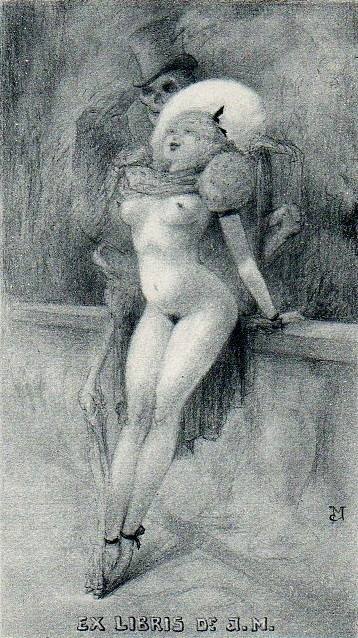 jean morisot skeleton with nude model