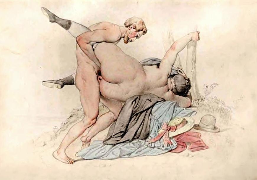 Johann Nepomuk Geige erotic art
