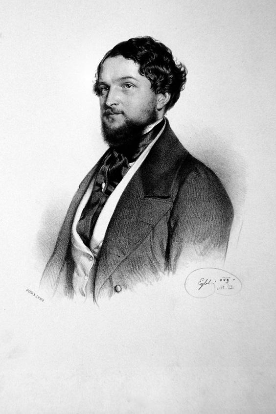 Johann Nepomuk Geiger Lithograph by Franz Eybl,