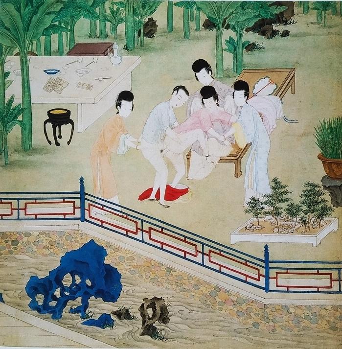 jou pu tuan Chinese painting