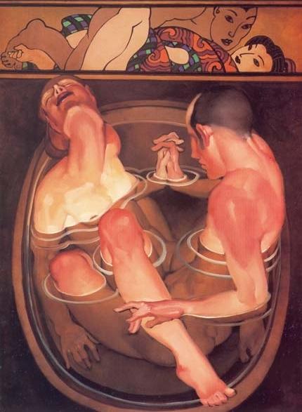 Juarez Machado couple in bath