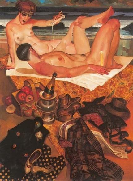 Juarez Machado nude couple on the beach
