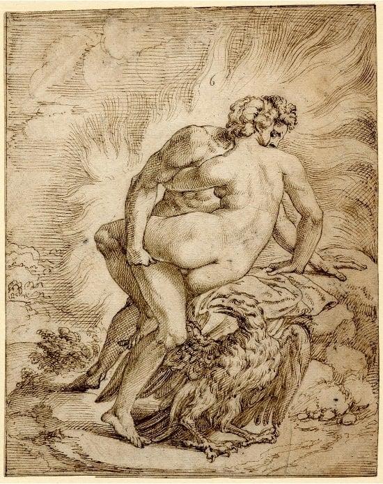 Jupiter and Semele in flames