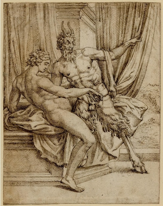 Jupiter as a satyr and Antiope