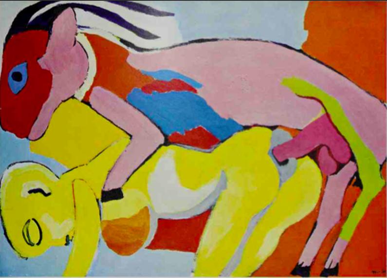 karel appel copulation goat