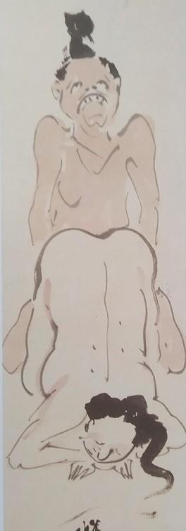Kawanabe Kyosai erotic doggy-style