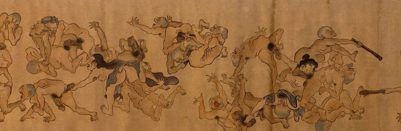 kawanabe kyosai scroll