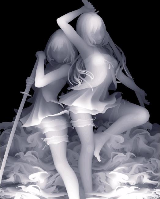 Kazuki Takamatsu girls with swords