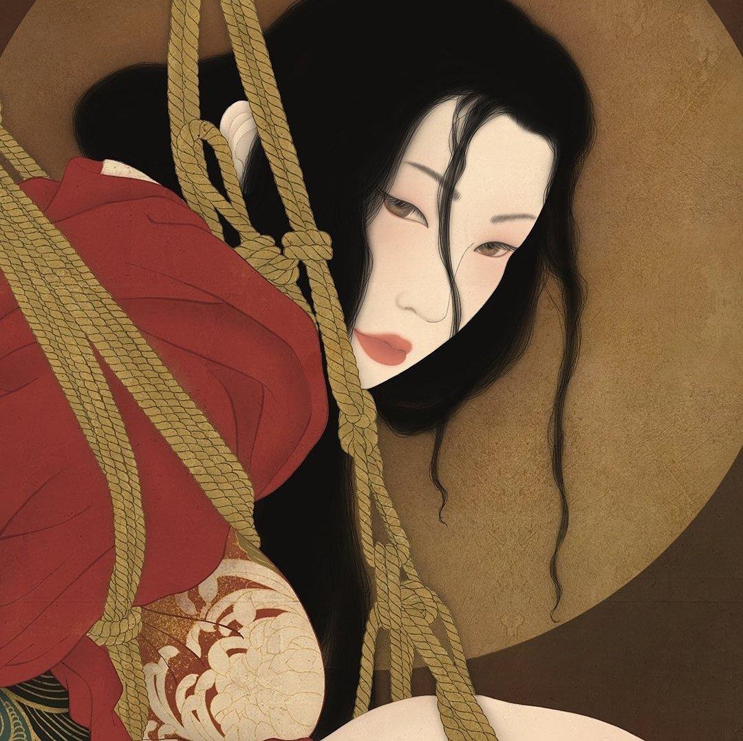 kinbaku Senju Shunga art