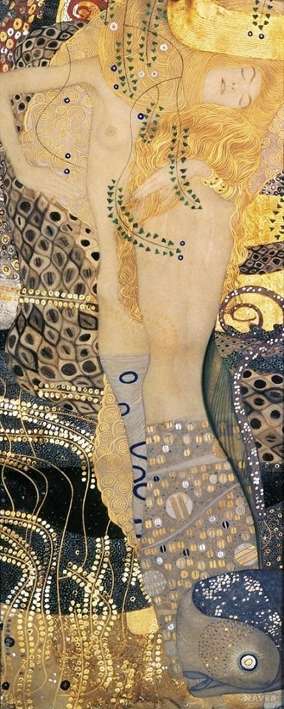 Klimt's Water Serpents I