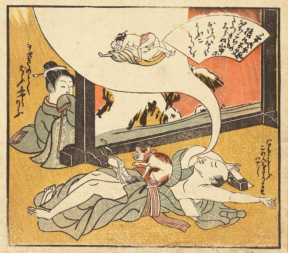 koryusai dreaming man shunga