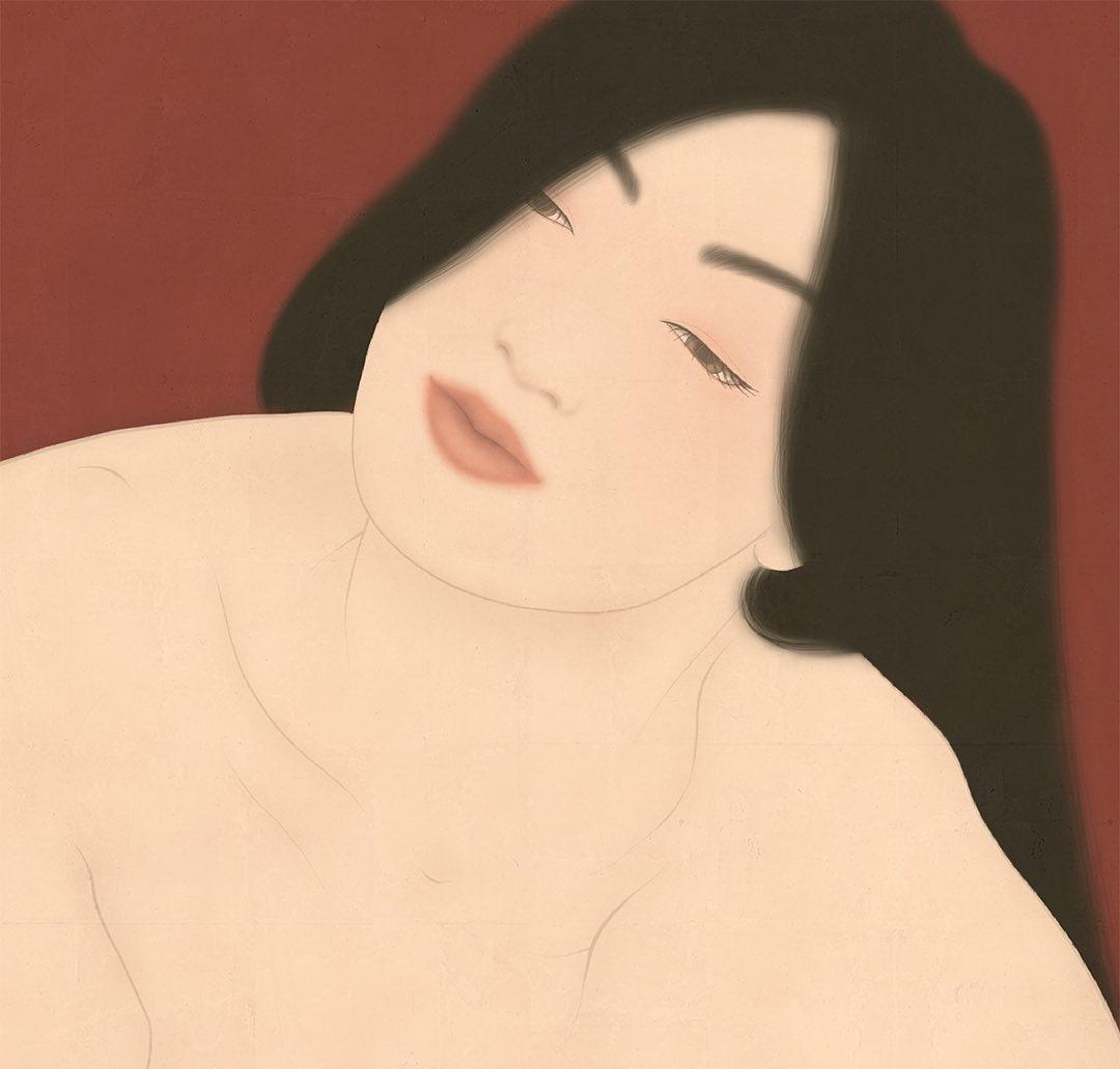 Kuroneko Senju Shunga painting