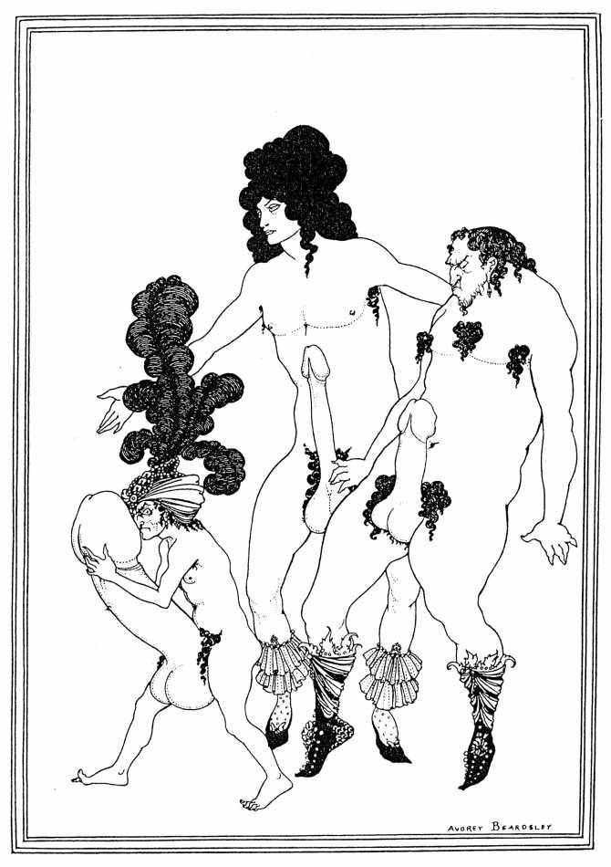 "Lacedaemonian ambassabors, ""Lysistrata aubrey beardsley"