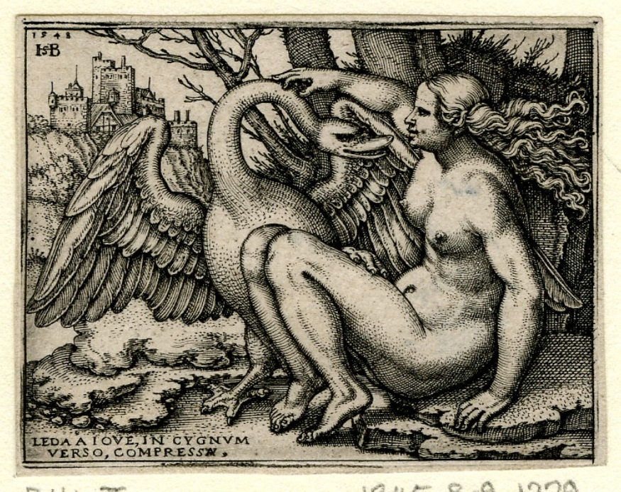 Leda and the Swan Sebald Beham