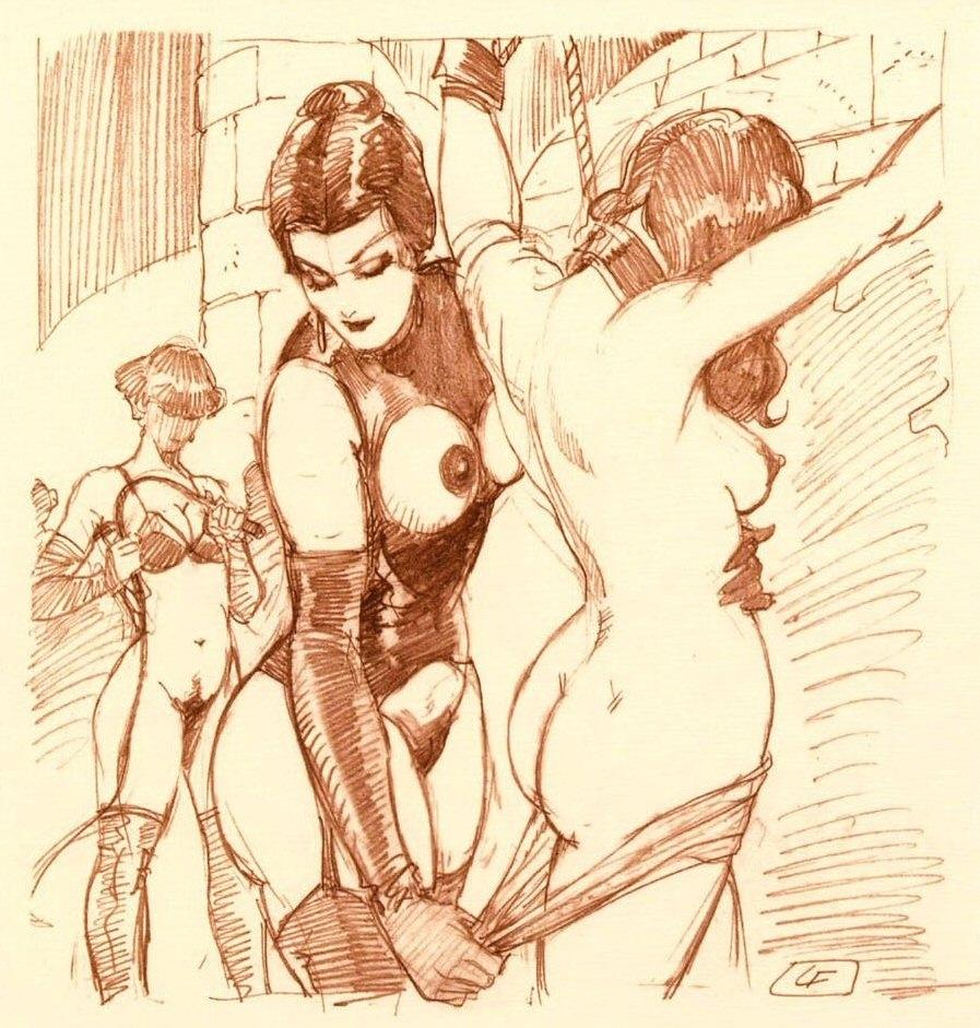 leone frollo erotic sketch