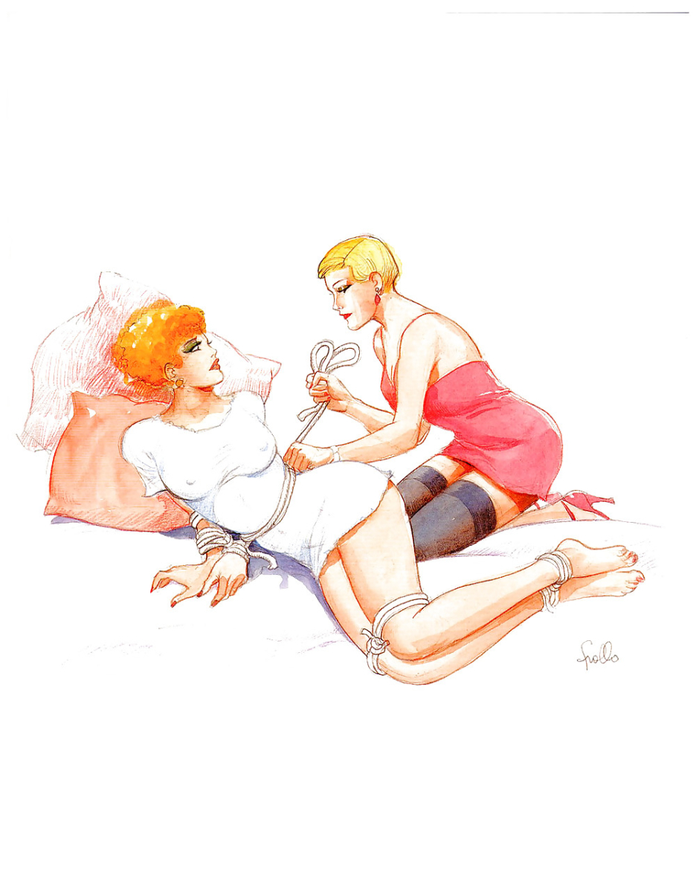 lesbian art leone frollo