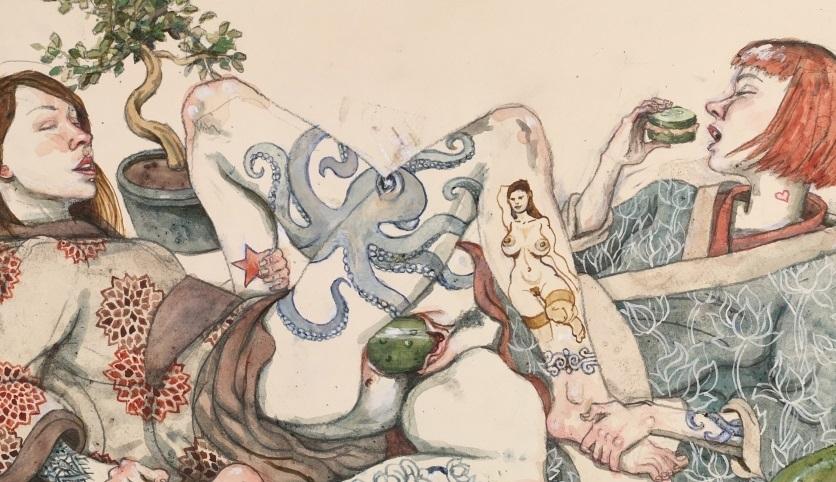 lesbian veggies erotic art