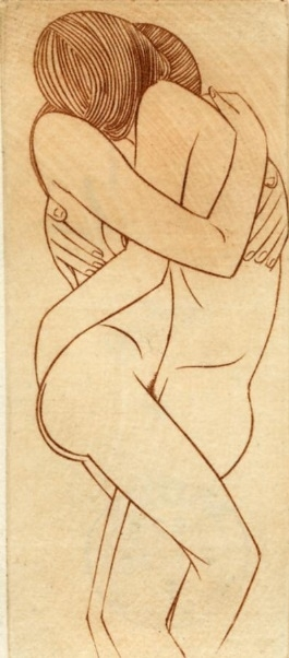 Lovers by Eric Gill