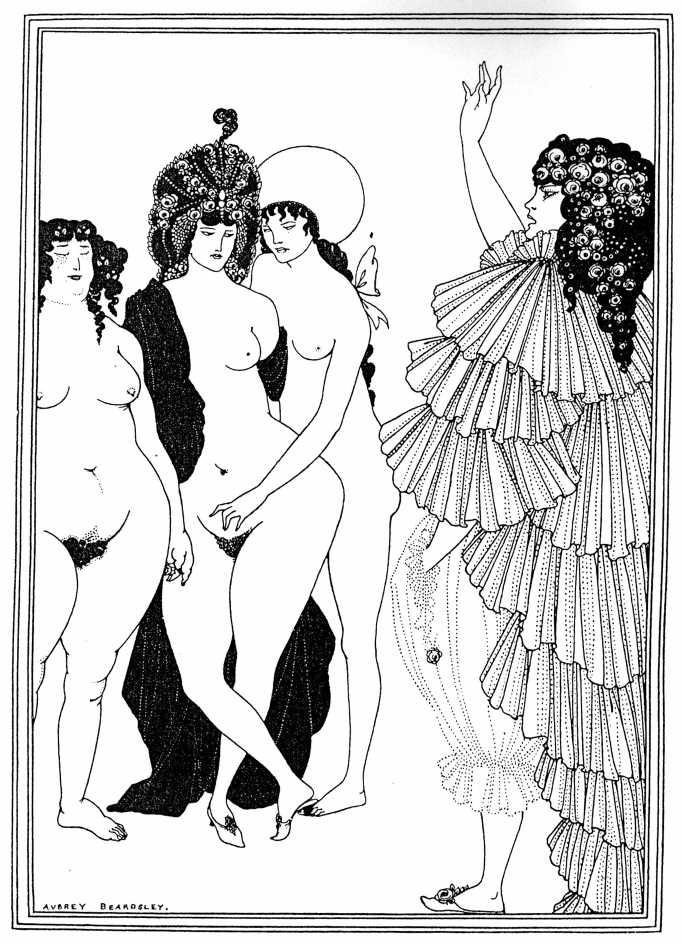 Lysistrata Haranguing the Athenian Women Aubrey Beardsley