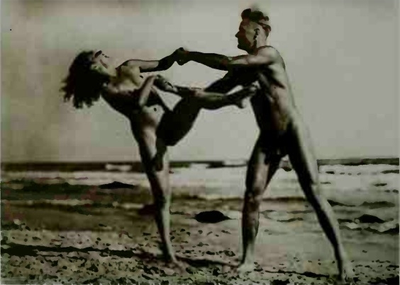 male and female nude on the beach