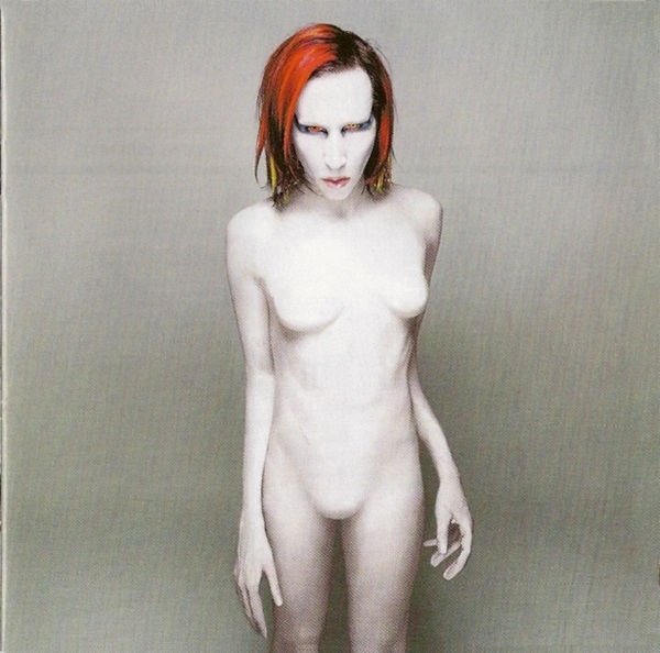 Marilyn Manson on the cover of Mechanical Animals