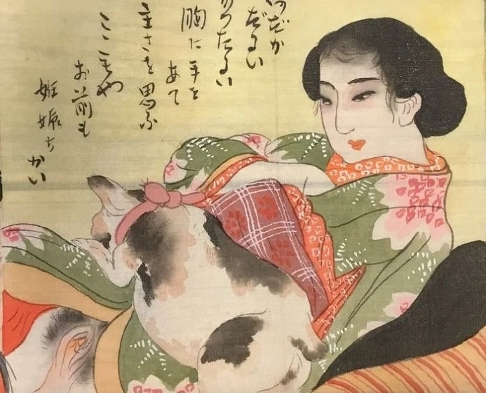 meiji shunga scroll painting