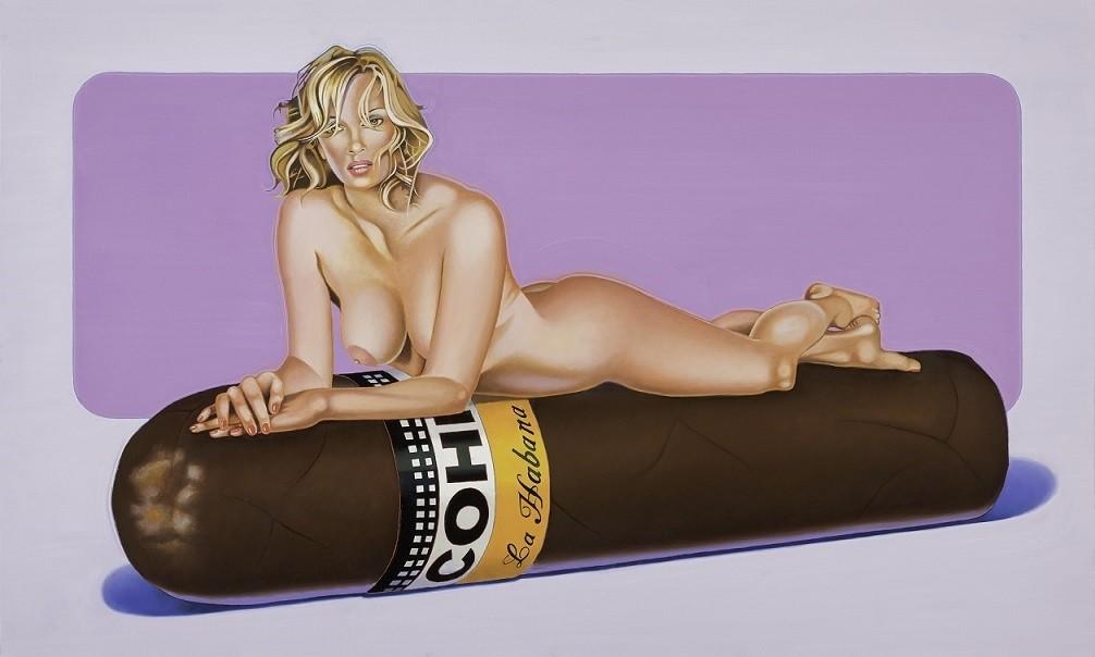 Mel Ramos cigar pinup