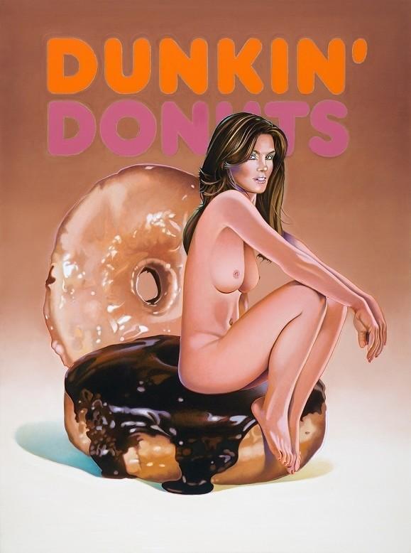 Mel Ramos dunkin donut doll