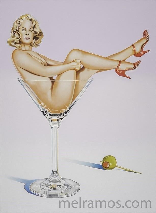 Mel Ramos girl in glass