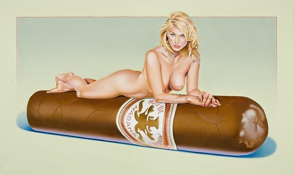 Mel Ramos girl on cigar