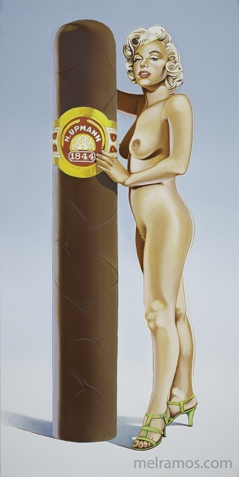 Mel Ramos pinup with cigar