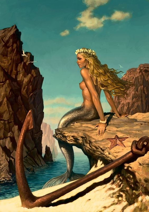 mermaid and anchor
