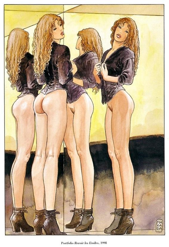 Milo Manara erotic art